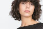 Tousled Short Layered Bob Hairstyle With Curls
