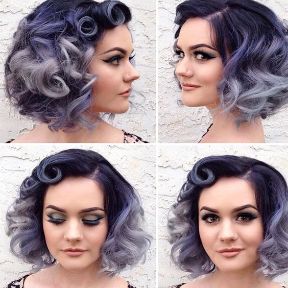 Trendiest Sassy Short Haircuts for Women wavy-curly-ombre-hairstyle-that-look-classic