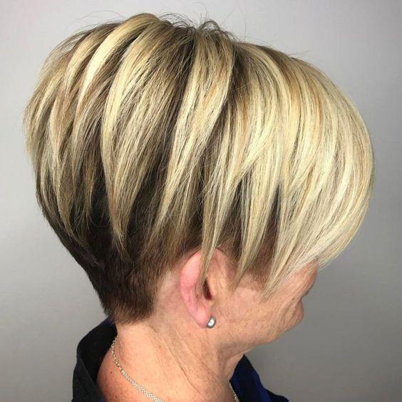 Wedge haircuts for women over 50