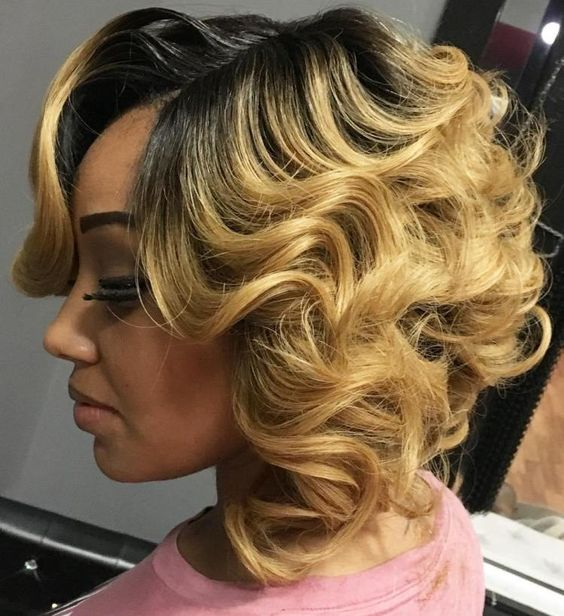 45 Finger Waves Hairstyles for Short Black Hair to Spice up the Strict Style for Your Hair 6470c821a3a07d1555a1985ca453a1bd