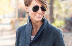 45 Short Hairstyles for Grey Hair and Glasses that Make Older Women Still Looking Stylish choppy_pixie_with_long_side_bangs_hairdo_2-235x150