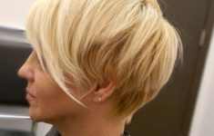 45 Short Hairstyles for Grey Hair and Glasses that Make Older Women Still Looking Stylish choppy_pixie_with_long_side_bangs_hairdo_4-235x150