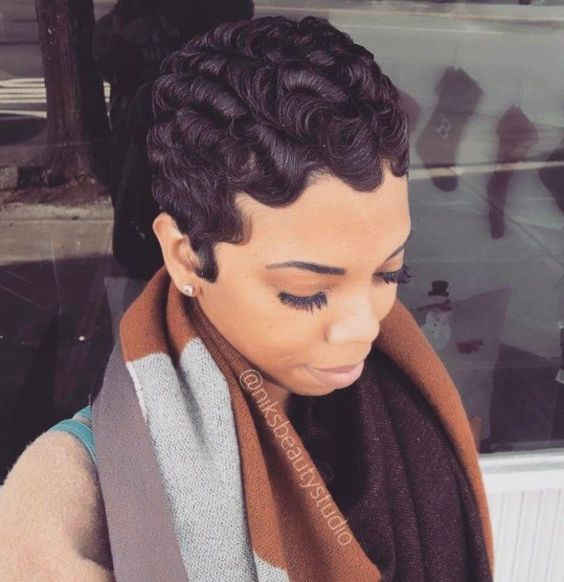 Finger Waves Wedding Hairstyle: Short, Finger Wave Pixie Hairstyle 4