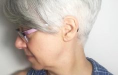 45 Short Hairstyles for Grey Hair and Glasses that Make Older Women Still Looking Stylish pixie_undercut_hairstyle_with_grey_hairs_5-235x150