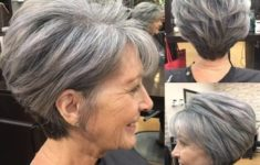 45 Short Hairstyles for Grey Hair and Glasses that Make Older Women Still Looking Stylish voluminous_pixie_cut_for_the_aged_women_2-235x150