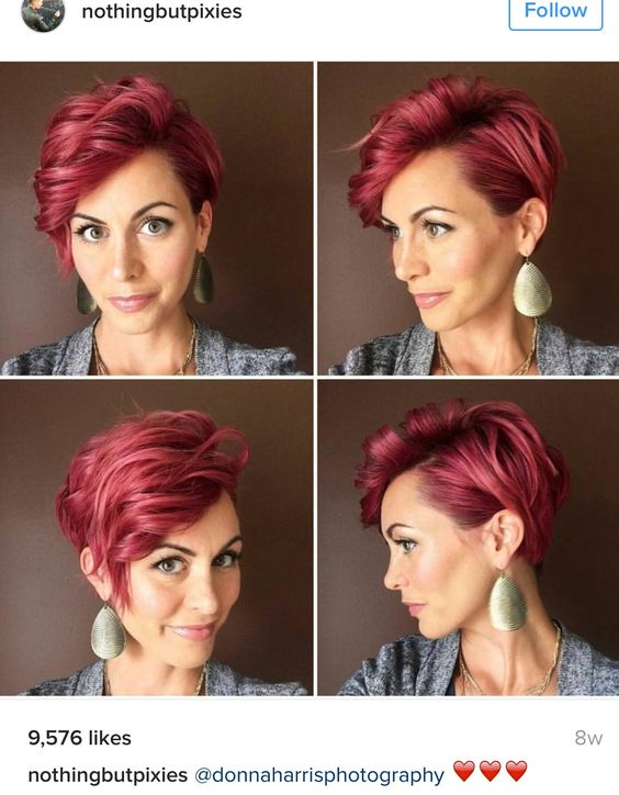Roaring Red Pixie Haircut 1