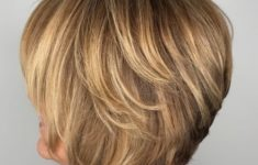 50 Gorgeous Wedge Haircuts for Women over 60 1-bronde-layered-bob-over-60-235x150