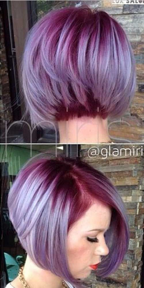 Pastel Pink and Purple Tousled Cut 3