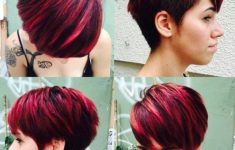 50 Most Favorite Short Wedge Haircuts For Women Over 40 24-short-choppy-haircut-with-side-undercut-235x150
