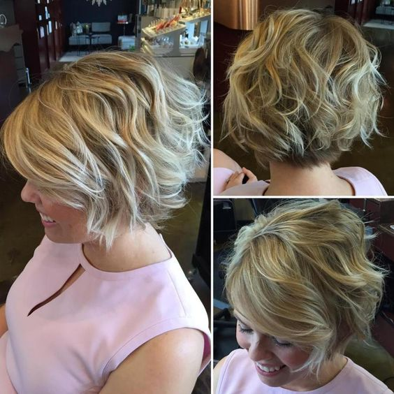 Curly Blonde Crop Stacked Haircut 4 2562ea8f00ea39fcb8b105d4be226876