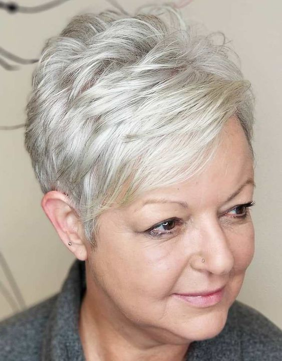 40 Short Layered Haircuts for Older Women that Help Make You Look One Decade Younger 31d32a0a3acea707da7f689e2a353746