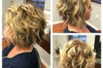 Curly Blonde Crop Stacked Haircut 3