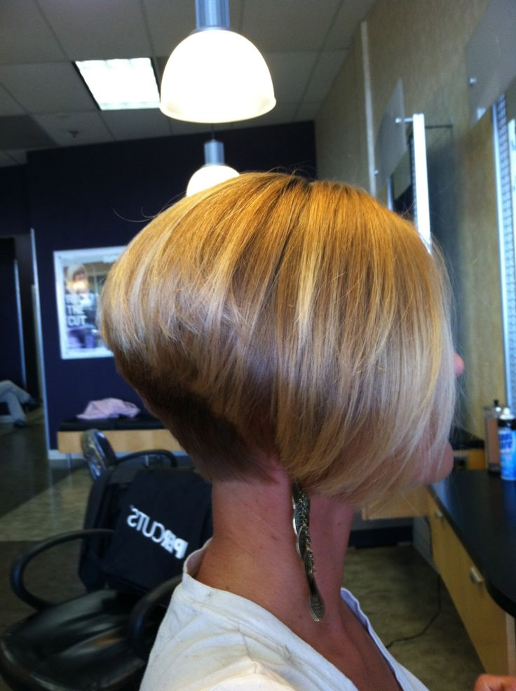 Angled Short Wedge Haircuts for Women 2