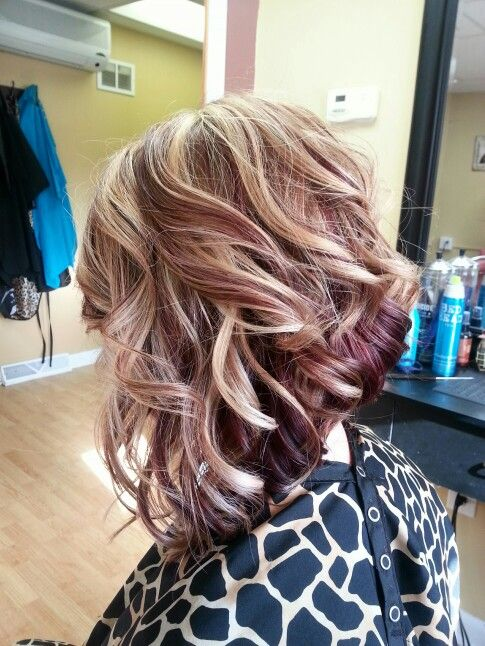 Blonde Stacked Do with Ringlets 2