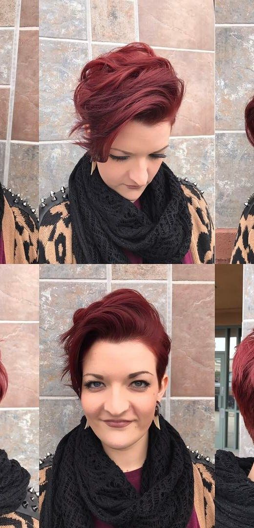 Roaring Red Pixie Haircut 4
