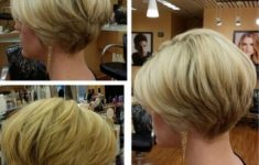 50 Most Favorite Short Wedge Haircuts For Women Over 40 Stacked-Layered-Short-Hairstyle-Thin-Hairstyles-235x150