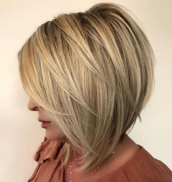 Cool Short Stacked Bob Hairstyle 4