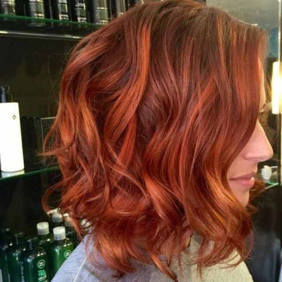 Ginger Red Bob with High Layers 4