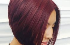 50 Gorgeous Wedge Haircuts for Women over 60 layered-red-Inverted-Bob-Hairstyles-235x150