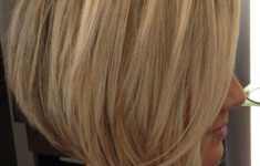 50 Most Favorite Short Wedge Haircuts For Women Over 40 popular-layered-inverted-bob-haircut-with-angled-bob-haircut-with-layers-hairstyles-weekly-235x150