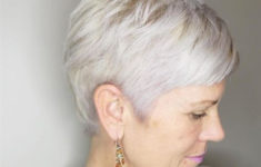 50 Gorgeous Wedge Haircuts for Women over 60 short-platinum-pixie-cut-235x150