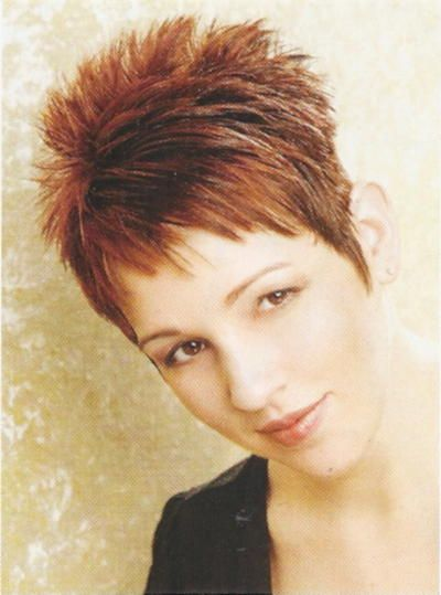 Spiky Pixie Hairstyle for Women Over 50 with Fine Hair 1