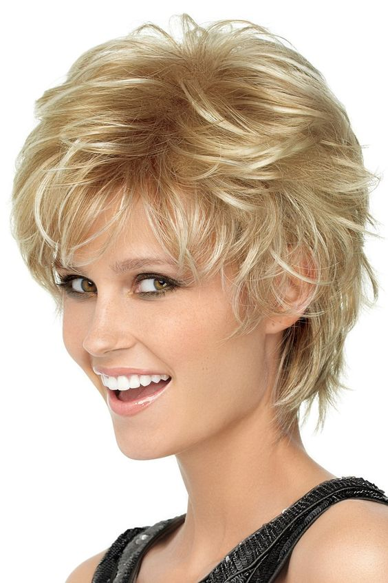 Shorter Shag Hairstyle for Women Over 50 with Fine Hair 1
