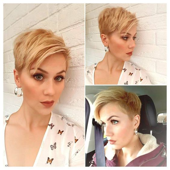 Pixie Haircut Style for Women Over 50 with Fine Hair 2