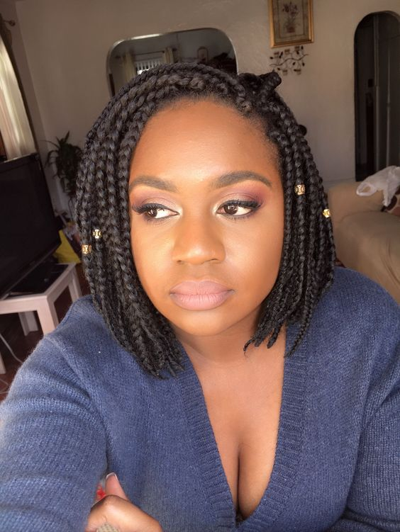 Braided Bob with Side Fringes Most Inspiring Braids Hairstyle for Women 2 Braided-Bob-with-Side-Fringes-Most-Inspiring-Braids-Hairstyle-for-Women-2