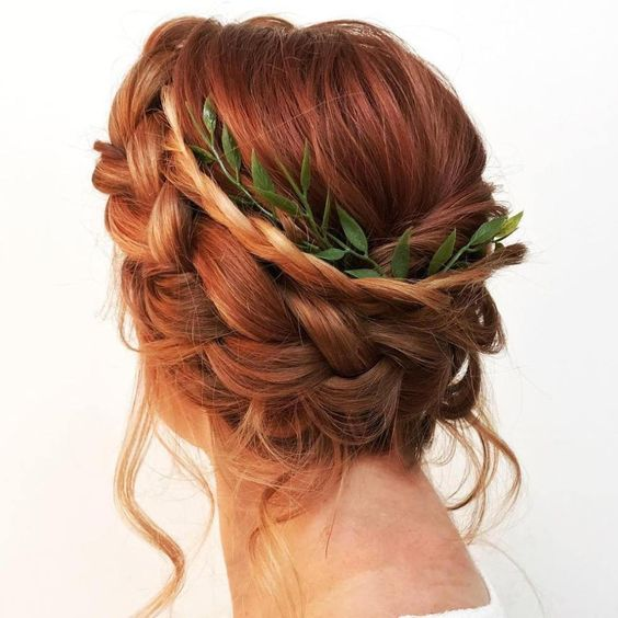 Crown Braid Easy Updos for Short Hair to do Yourself 3 Crown-Braid-Easy-Updos-for-Short-Hair-to-do-Yourself-3
