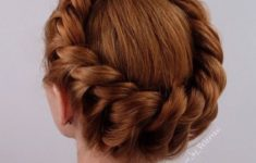 Top 78 Easy Updos for Short Hair to Do Yourself Crown-Braid-easy-updos-for-short-hair-to-do-yourself-3-1-235x150