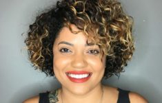 54 Best Women's Hairstyles for over 40 and Overweight Curly-Bob-Hairstyle-for-over-40-and-Overweight-Women-6-235x150