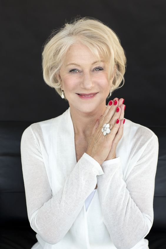 Hellen Mirren and Ellen Burstyn's Hairstyles for Seniors with Thin Hair That Give Youthful Look 1