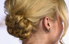 79 Most Inspiring Braids Hairstyle for Women Knotted-Chignon-Most-Inspiring-Braids-Hairstyle-for-Women-2-235x150