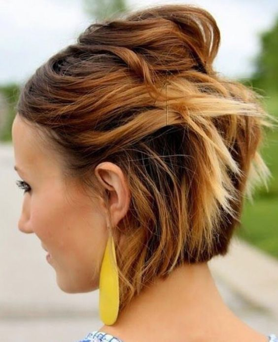Top 78 Easy Updos for Short Hair to Do Yourself Pinned-Back-Waves-Easy-Updos-for-Short-Hair-to-do-Yourself-1