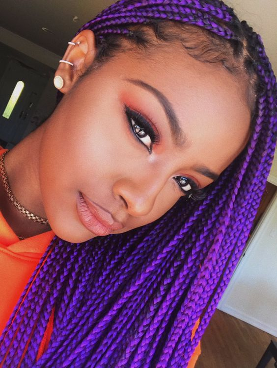 Punky Purple Most Inspiring Braids Hairstyle for Women 1 Punky-Purple-Most-Inspiring-Braids-Hairstyle-for-Women-1