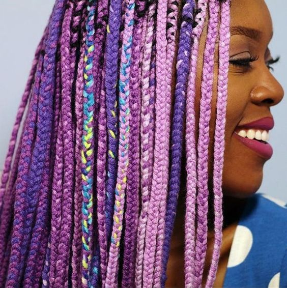 Punky Purple Most Inspiring Braids Hairstyle for Women 2 Punky-Purple-Most-Inspiring-Braids-Hairstyle-for-Women-2