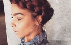 60 Easiest Short Curly Hairstyles Ideas that Look Awesome Short-Curly-with-Crown-Braid-Easiest-Short-Curly-Hairstyles-Ideas-5-235x150