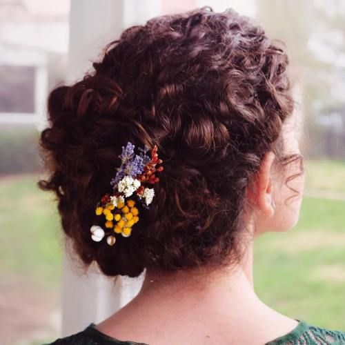 60 Easiest Short Curly Hairstyles Ideas that Look Awesome Short-Natural-Curly-Up-Do-Easiest-Short-Curly-Hairstyles-Ideas-1