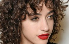 60 Easiest Short Curly Hairstyles Ideas that Look Awesome Shoulder-Length-Curly-Hairstyle-with-Bangs-Easiest-Short-Curly-Hairstyles-Ideas-2-235x150