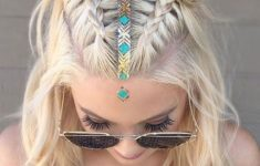 79 Most Inspiring Braids Hairstyle for Women Space-Braided-Bun-with-Pig-Tails-Most-Inspiring-Braids-Hairstyle-for-Women-2-235x150