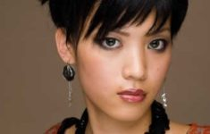 72 Cute and Chic Asian Hairstyles for Women Textured-Pixie-With-Bangs-Asian-hairstyles-for-women-2-235x150