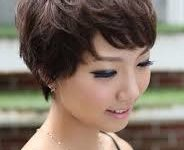 72 Cute and Chic Asian Hairstyles for Women Textured-Pixie-With-Bangs-Asian-hairstyles-for-women-6-184x150