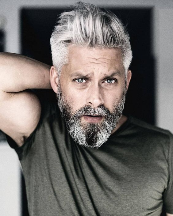 10 Most Ideal Hairstyles for Men over 60 White-Long-Pulled-Back-hairstyles-for-men-over-60-1