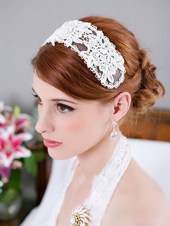 Half Up with Accessories Hairstyles for Bridesmaid 5