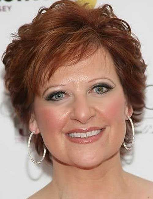 Natural Red Hairstyle for Women Over 50 with Fine Hair 6