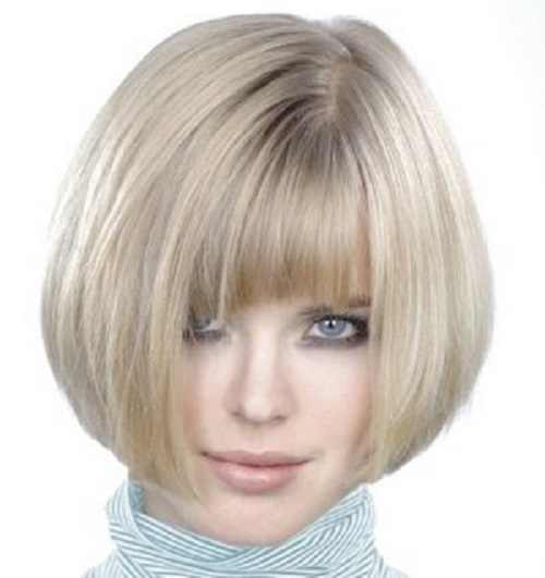 Short Blunt Bob Hairstyle With Bangs