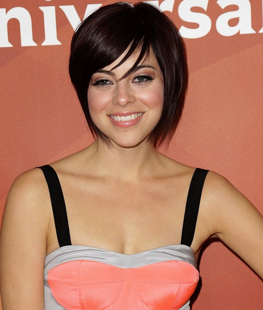 Short Bob Hairstyles with Fringe 2014