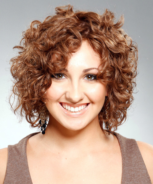 Short Natural Curly Bob Hairstyles for Beautiful Women