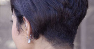 Short Stacked Hairstyles Back View